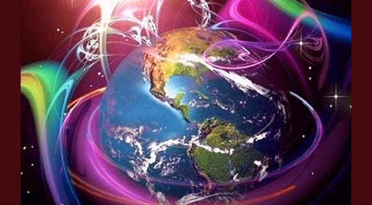 Nébulosités d'énergies autour de la Terre.