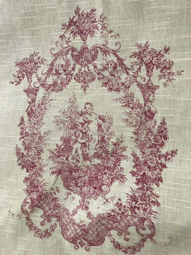 1900 French Toile Fabric From Original Pattern 12 Yards With