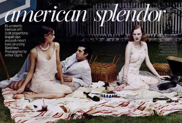 American Splendor I US Vogue I November 2003 I Models: Karen Elson & Elise Crombez I Editor: Grace Coddington I Photographer: Arthur Elgort.