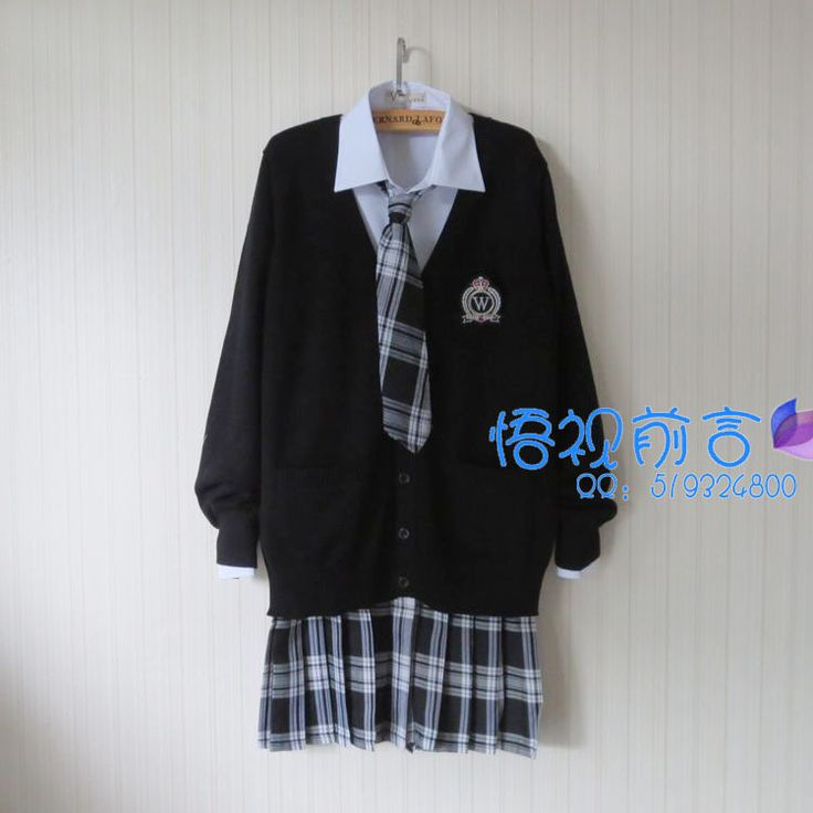 Cheap japanese school uniform sweater, Buy Quality school uniform sweater directly from China school uniform Suppliers: Plus Size Preppy Style JK School Uniform Black Sweater Cardigan Jacket Harajuku Japanese School Uniform Sweater+Shirt+Tie+Skirt