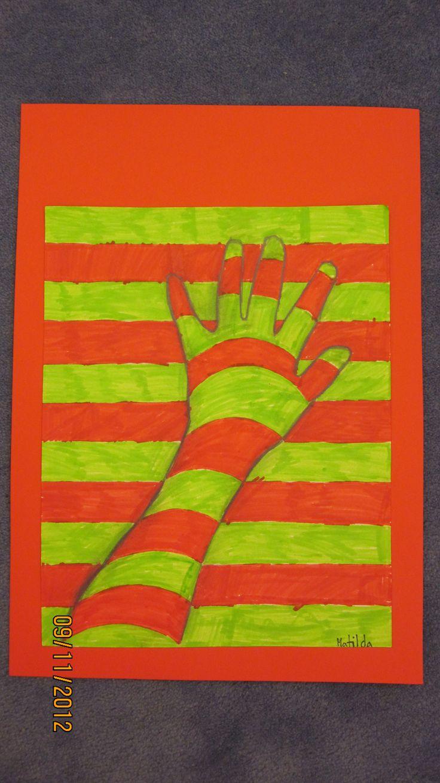 Åk 4 arbetar med komplementfärger.