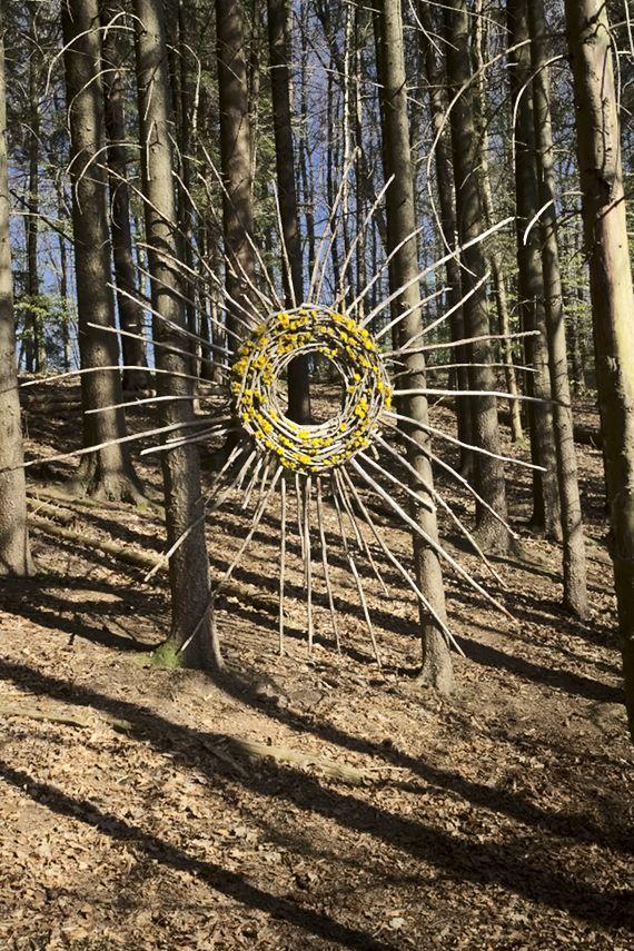 Landart - der neue Blick - ahornblatt-naturfloristik