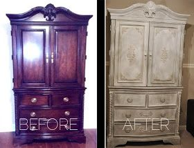 The Fabulous Baby Striblings: Annie Sloan Chalk Paint Armoire - Before and After