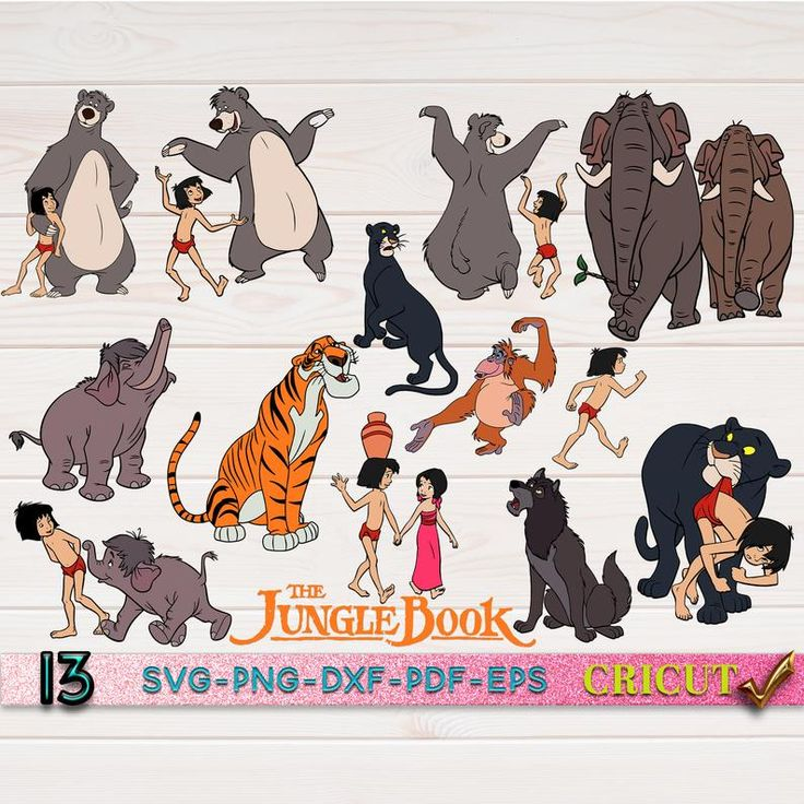 Jungle Book SVG Bundle Cricut File Jungle Book SVG Disney