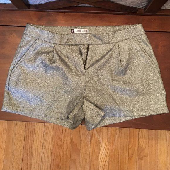 Silver shorts Fabulous silver shorts. Worn a handful of times, like new! Jennifer Lopez Shorts