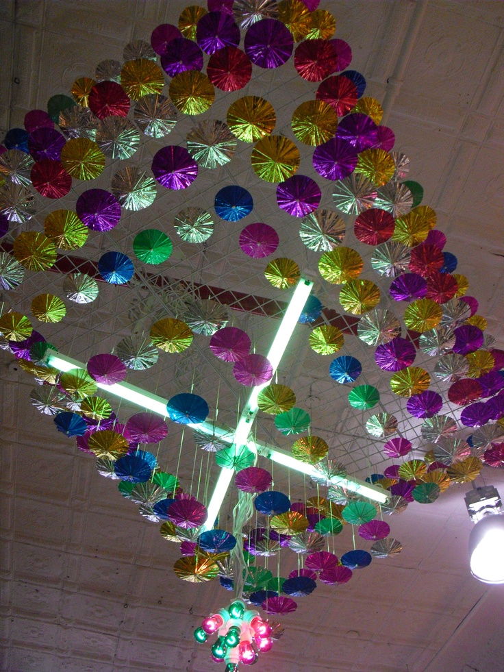 Urban Outfitters - New York Nov 2011  (Small aluminium umbrellas - creating a chandelier look)