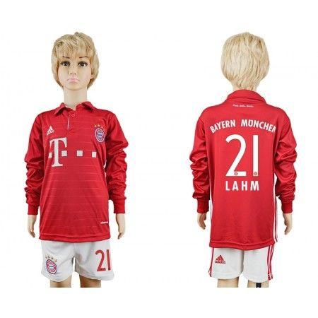 Bayern München Trøje Børn 16-17 Philipp #Lahm 21 Hjemmebanetrøje Lange ærmer,222,01KR,shirtshopservice@gmail.com