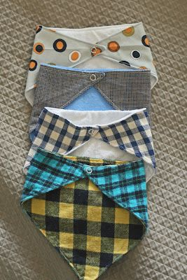 DIY Bandana Bib - I'd want ties instead of snaps