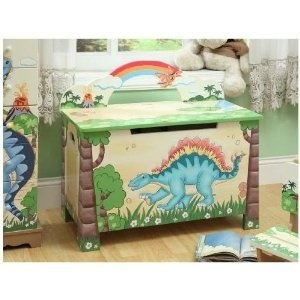 Teamson Kids Childrens Dinosaur Kingdom Toy Box Dinosaur Bedroomdinosaur Room Decordinosaur