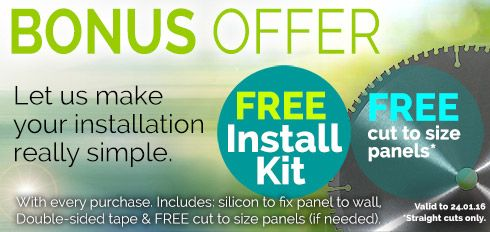 NOV/DEC Bonus Offer - Let us make your splashback installation really simple.