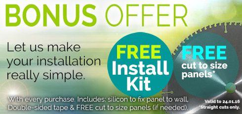 NOV/DEC Bonus Offer - Let us make your splashback installation really simple.
