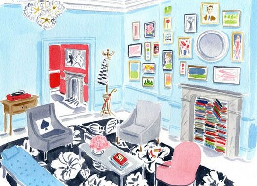 Kate Spade London Pop-Up Shop illustration by caitlin mcgauley