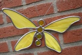 vlinder van glas in lood