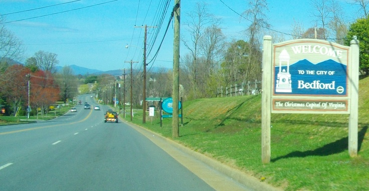 Bedford, Virginia.....The town our farm is in...You can see the Blue Ridge Mountains....Love this town..♥
