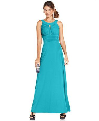 Sangria Sleeveless Keyhole Gown - Dresses - Women - Macy's