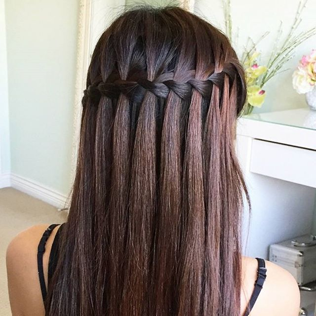 How Stunning Is This Waterfall Braid Braids Pinterest