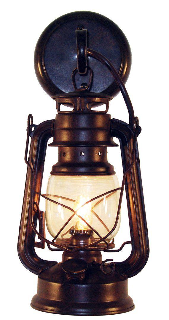 Wall Mounted Lantern Sconce Small Rustic By Muskoka