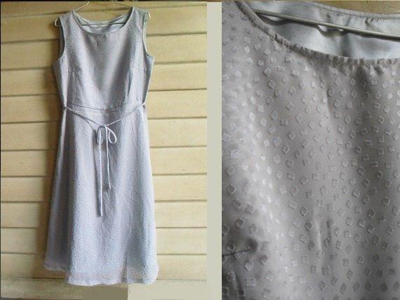 80s Day Dress - Summer Mini Dress - Silvery Grey Chiffon Dress - Tiny Square Dot - S by KeepItCasual on Etsy https://www.etsy.com/listing/205277978/80s-day-dress-summer-mini-dress-silvery