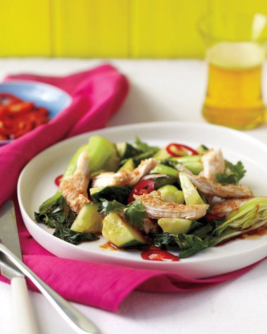 Cucumber And Chicken Salad With Sesame Ginger Dressing Recipe ...