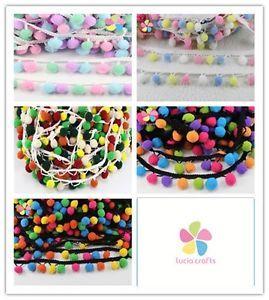 12mm/10mm  Pom Pom Trim Ball Fringe Ribbon DIY Sewing Accessory  Lace 1yard/lot    eBay