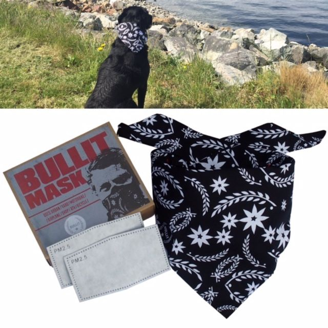 Bullit Speed Shop bandana dust mask. Perfect for shop work, commuting, motorcycling, grass cutting or even your dog can wear it as a stylish bandana! Includes hidden pocket to insert filters. Available at www.bullitspeedshop.com and Amazon.com #mask #dustmask #dust #construction #safety #filter #pollution #bandana #outdoors #mensfashion #menswear