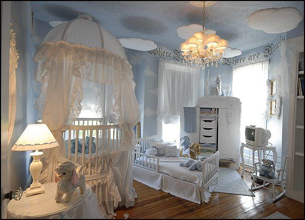 angel theme decorating ideas celestial style baby roomskids - Baby Themed Rooms