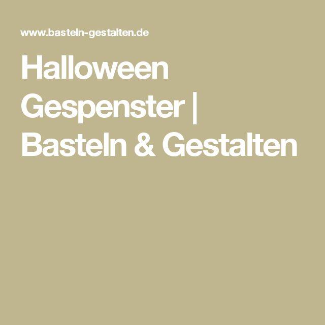 Halloween Gespenster | Basteln & Gestalten