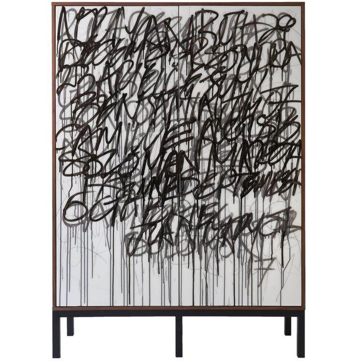 'Say It Again', Cabinet by Morgan Clayhall Art Doors, Walnut and Steel