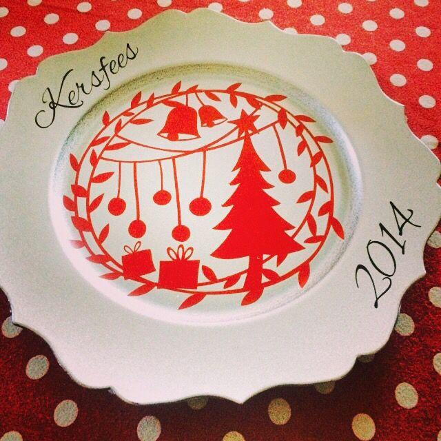 Kersfees bord, met jou eie boodskap. Beskikbaar op www.dezines.co.za