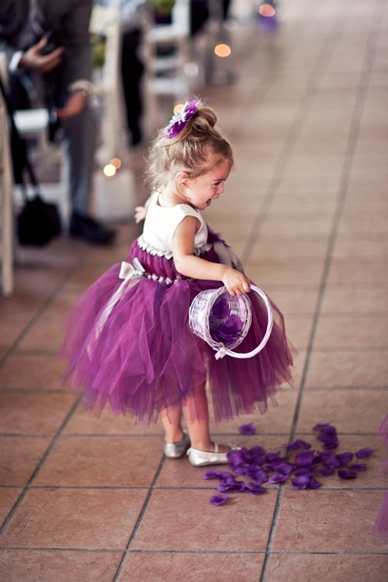 Love the idea of a purple tutu for the flower girl - different shade than shown here though...