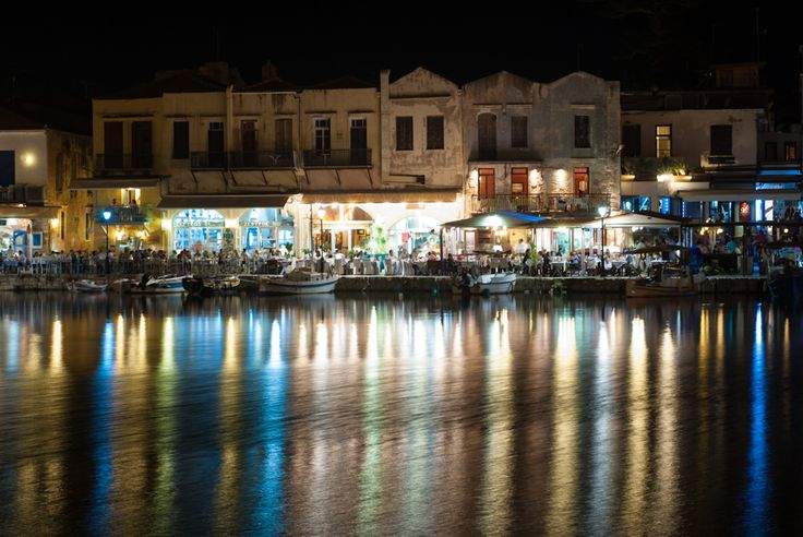 Old town of #Rethymno #Harbor #Crete #SummerNights  Photo credits: Ranavern