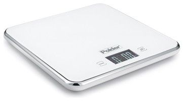 Slimmer Digital Kitchen Scale, White - modern - Timers Thermometers And Scales - The Organizing Store