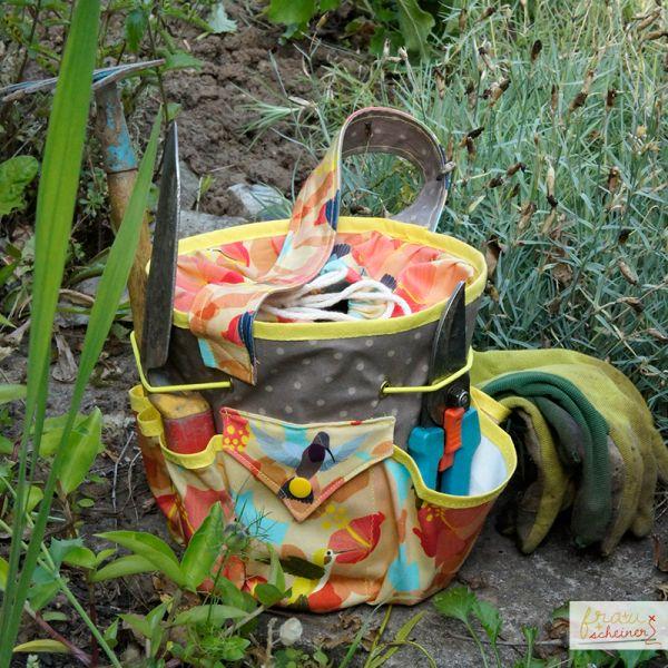 Gartentasche Anleitung und Schnittmuster selber naehen