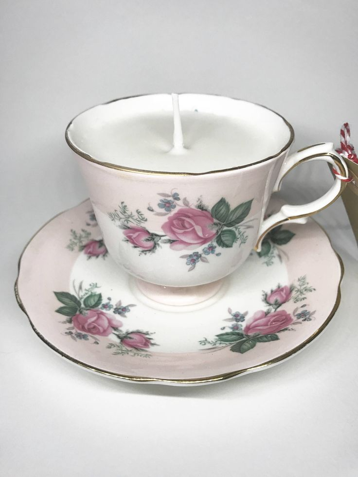 Candle in a tea cup by HandmadeByHannaRose on Etsy https://www.etsy.com/uk/listing/534286547/candle-in-a-tea-cup
