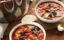 Fresh Tomato & Bean Soup