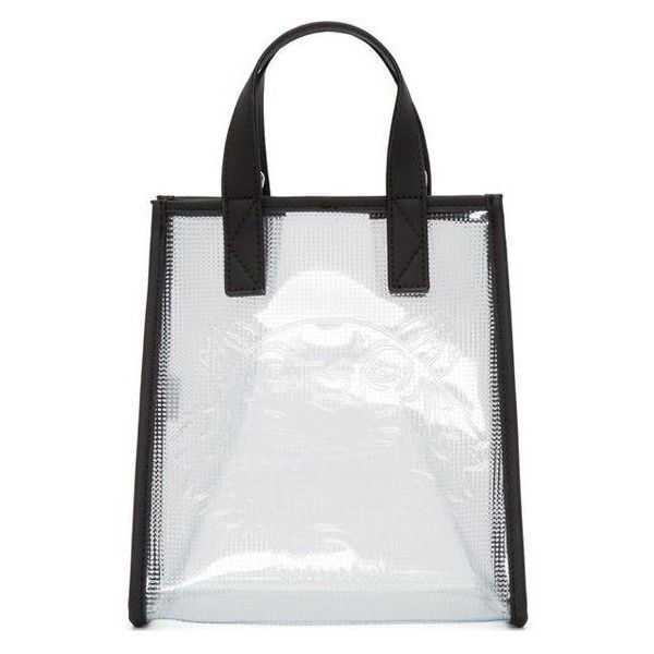 Kenzo Clear Vinyl Tiger Tote ❤ liked on Polyvore featuring bags, handbags, tote bags, clear vinyl tote, clear purse, clear vinyl handbags, clear tote bags and white tote