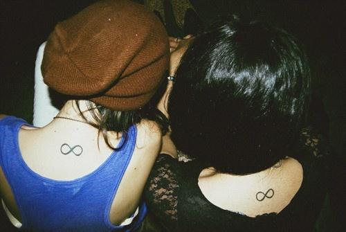 Infinity symbol: Tattoo Ideas, Best Friends, Friends Tattoo, Infinity Tattoo, Neck Tattoo, Matching Tattoo, A Tattoo, Tattoo Ink, Friendship Tattoo