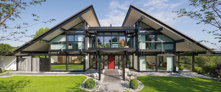 Huf Haus.  High performance, luxury homes, made in a factory and created on site…