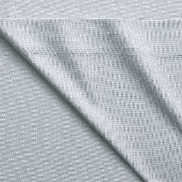 basketweave silver grey curtain panel | CB2
