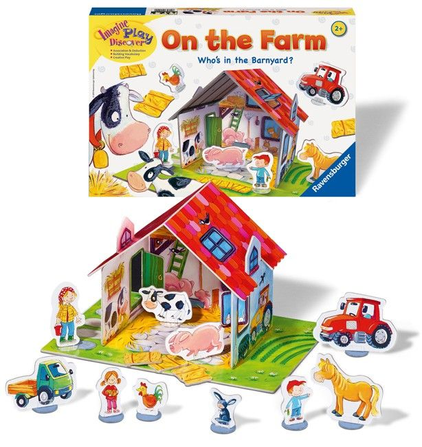 Ravensburger - Game On the Farm   This looks like a fun game that both my boys could play together, to help them understand turn taking. #pintowin #entropywishlist