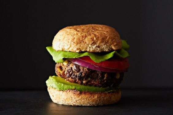 Black Bean and Corn Burgers | By Gena Hamshaw | These veggie burgers are a little bit spicy, thanks to a mixture of paprika, cumin, and chili, and a little bit sweet, thanks to fresh summer corn. They've got texture, taste, and tons of nutrition, too. | Via: food52.com