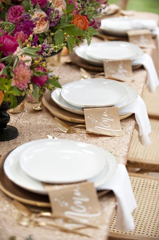 Glitzy fall table,  Inspiration for Mobella Events, www.mobellaevents.com