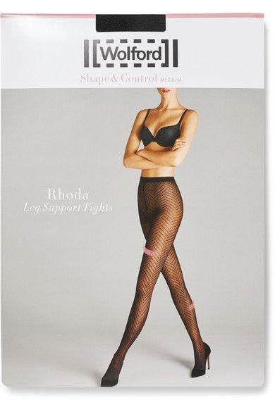 Wolford - Rhoda 40 Denier Tights - Black - x small