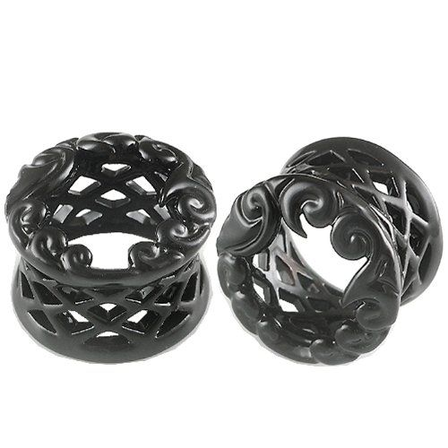 Flare Ear Large Gauge Plugs Flesh Tunnels Earlets ABGS   Ear stretched