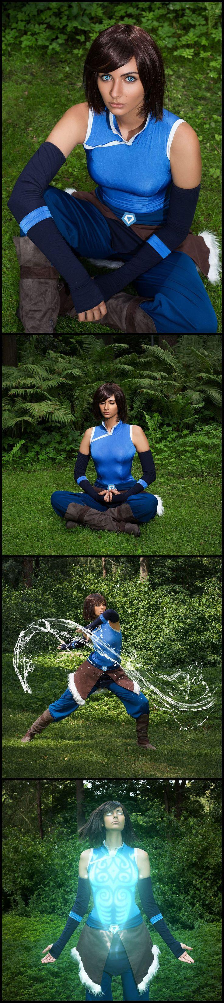 Avatar Korra by Russian Cosplayer @AnnetBlueWolf Super Hero shirts, Gadgets