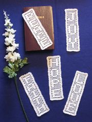 Filect Crochet Patterns - Inspirational Filet Bookmarks