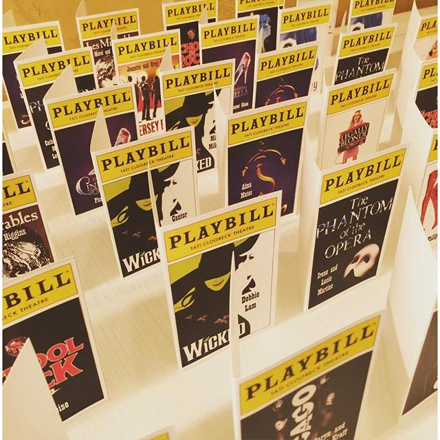Cute playbill seating cards for our Broadway theme #escort_seating