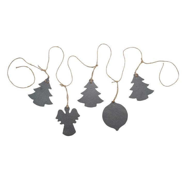 Christmas Slate Garland - Christmas Trees, Angel & Bauble - PIN IT TO WIN IT Christmas 2015