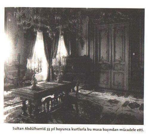 Cennet mekan Sultan II.Abdulhamid Han'ın 33 yıl devletin ve milletin bekası için uğraşıp didindiği odası #AbdülhamidHan #OsmanlıDevleti