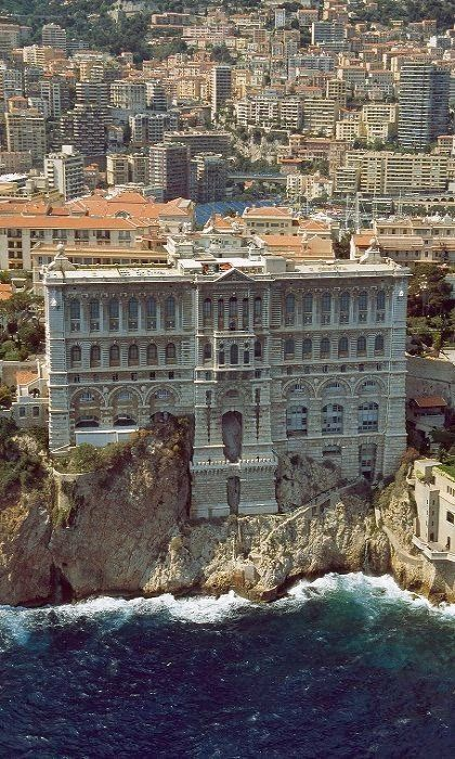 Beautiful southern France -- Grimaldi Palace in Monte Carlo, Monaco.  Traveling by train through this area is breathtaking.
